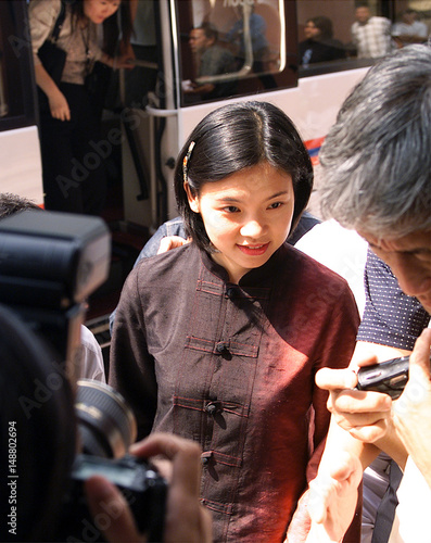 Chu mei-feng gestures during an interview with reuters in taipei.