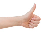 Woman Hand With Thumb Up Isola...