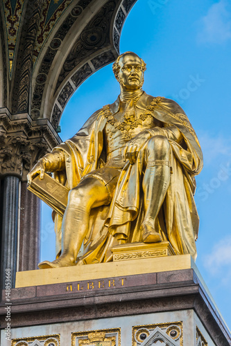 Poster Artistic monument Prince Albert Memorial, Gothic Memorial to Prince Albert. London