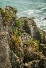 Pancake Rocks On The Coast