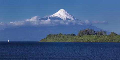 Volcano Osorno at Llanquihue Lake (Chile)