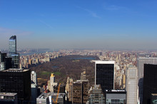 New York City On Top Of The Rock - Central Park