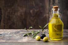 Virgin Olive Oil In A Crystal ...