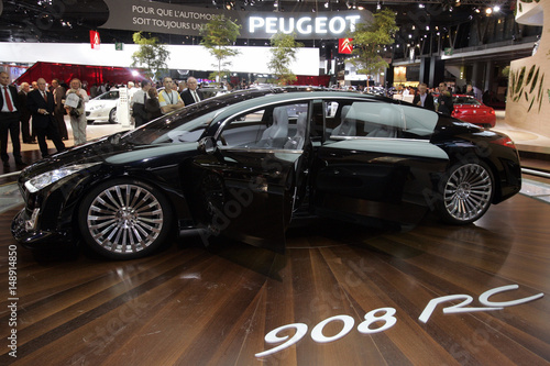 New Peugeot 908 Rc Concept Car Is Displayed On Media Day At The