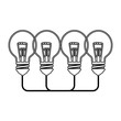 Big idea bulb symbol vector illustration design icon