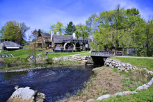 National Historic Saugus Iron Works About 10 Miles From Boston In Saugus, Massachusetts. Site Of The First Integrated Ironworks In North America, In Operation Between 1646 And Approximately 1670.