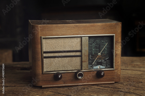 radio vintage année 1940 Canvas Print