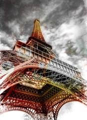 Fototapeta Paryż Eiffel Tower in Black and White