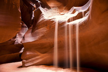 Slot Canyons Flowing Sand