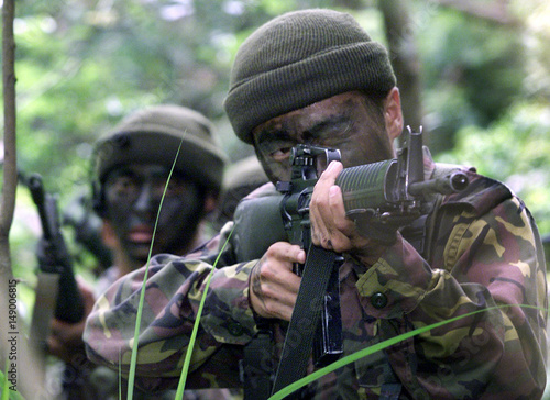 TAIWAN SPECIAL FORCES CONDUCT AN EXERCISE IN THE ISLAND'S