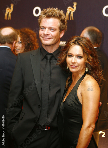 Tv Presenter Oliver Geissen And His Friend Actress Christina Plate