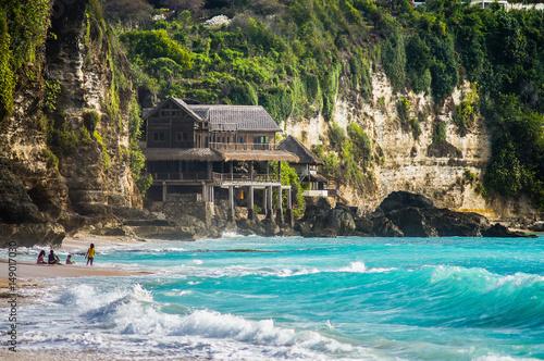 Rocks on Beautiful Dreamland beach-Bali,Indonesia Canvas Print