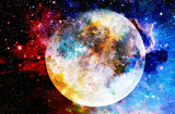 Cosmic space and moon. color cosmic abstract background. - 149128805