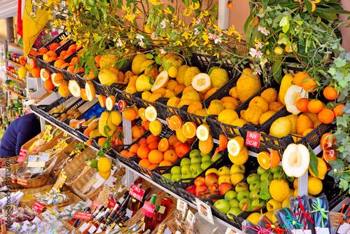 Obraz na plátně  Typical products of Sicily