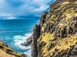 A Beautiful landscape with a rocky coastline