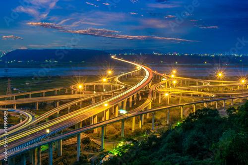 Foto op Aluminium Beijing aerial view of the Zhongqing Interchange in taichung
