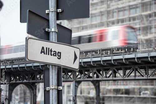 Foto  Schild 176 - Alltag