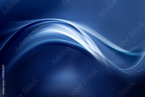 Dynamic background powerful effect light design. Blue blurred color waves design.