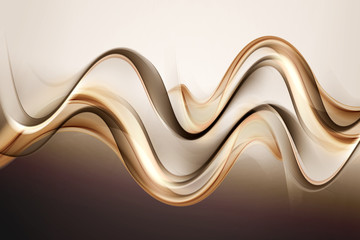 Amazing Gold Brown Waves Abstract Background