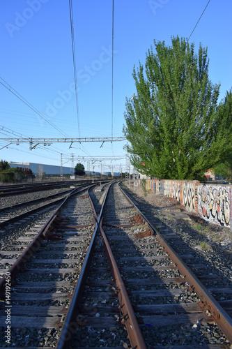 Fotografía  Vías de trenes.