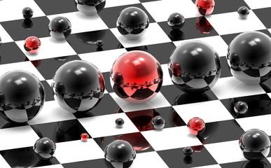 Obraz na Plexi Czarno-Biały Abstrakcyjne kulki