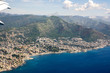 Aerial view of Genoa city in italy