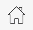 Home Line Icon. Editable Stroke.
