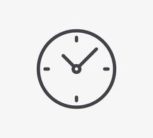 Clock Line Icon. Editable Stro...