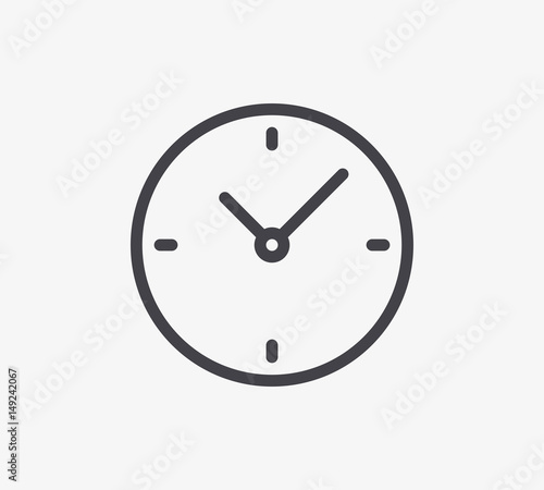 Clock Line Icon. Editable Stroke. Wallpaper Mural