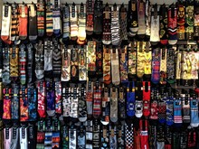 Colorful Socks With Prints On Display In Store