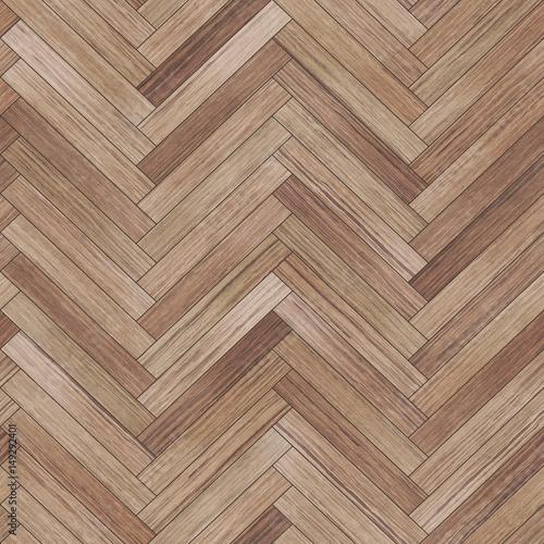 Fototapeta Seamless wood parquet texture (herringbone light brown) obraz na płótnie