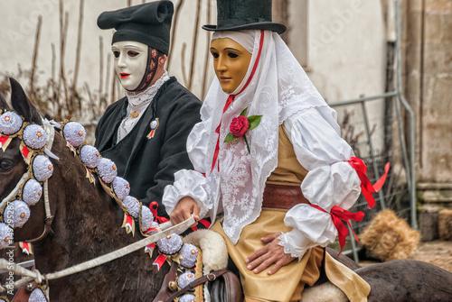 Carnevale di Sardegna - Carnival in Sardinia Wallpaper Mural