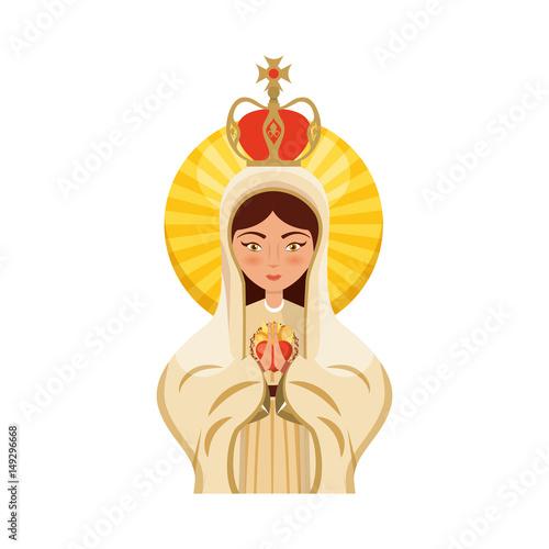Vászonkép Holy virgin mary icon vector illustration design