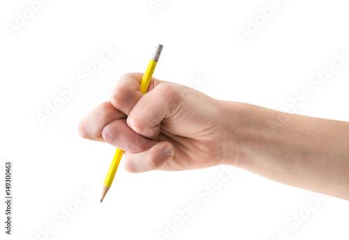 Fotografie, Obraz  mano distorta che regge una matita
