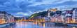 Leinwanddruck Bild - The Saone river in Lyon city