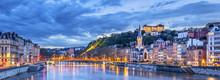 The Saone River In Lyon City