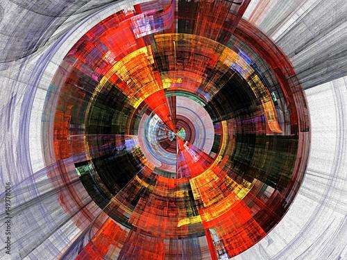 colored fractal Wallpaper Mural