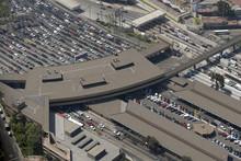 Border Crossing At San Diego, California Border.