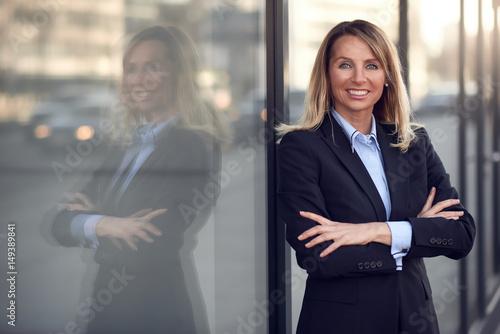 Porträt einer lächelnden Geschäftsfrau