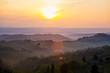 sunrise over tuscanian hills