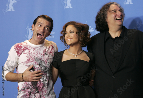 Spanish Actor Banderas Us Singer And Actress Lopez And Us