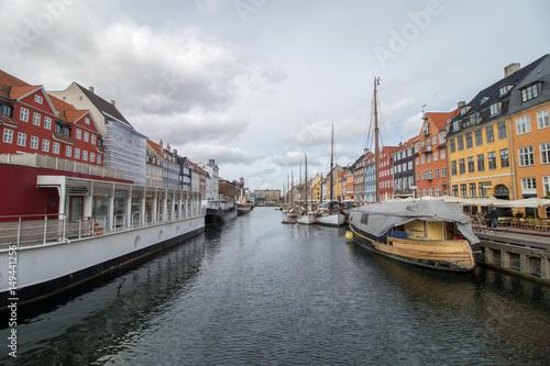 Nyhavn district in Copenhagen, the capital of Denmark Poster