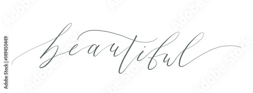 Tablou Canvas beautiful calligraphy