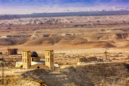 New Churches Elijah's Hill Near Jesus Baptism Site Bethany Beyond Jordan Canvas Print