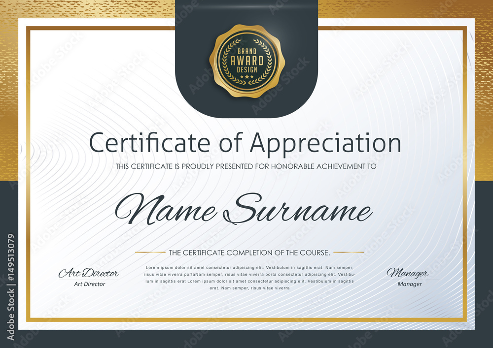 Fototapety, obrazy: certificate template with luxury pattern,diploma,Vector illustration