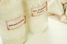 Glass Containers Of Flour In T...