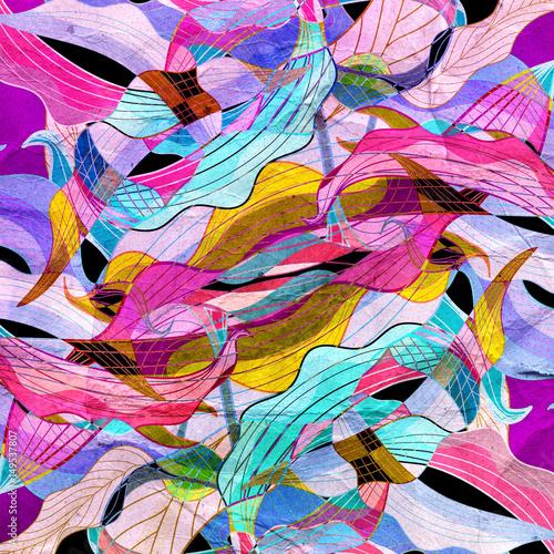 Foto op Plexiglas Paradijsvogel Abstract bright colorful background