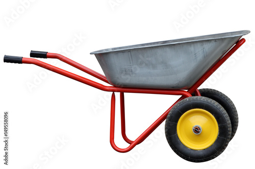 Fotomural  Garden hand truck isolated on white background.