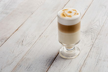 Llatte Macchiato Coffee On Whi...