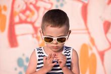Cute Little Boy In Sunglasses ...